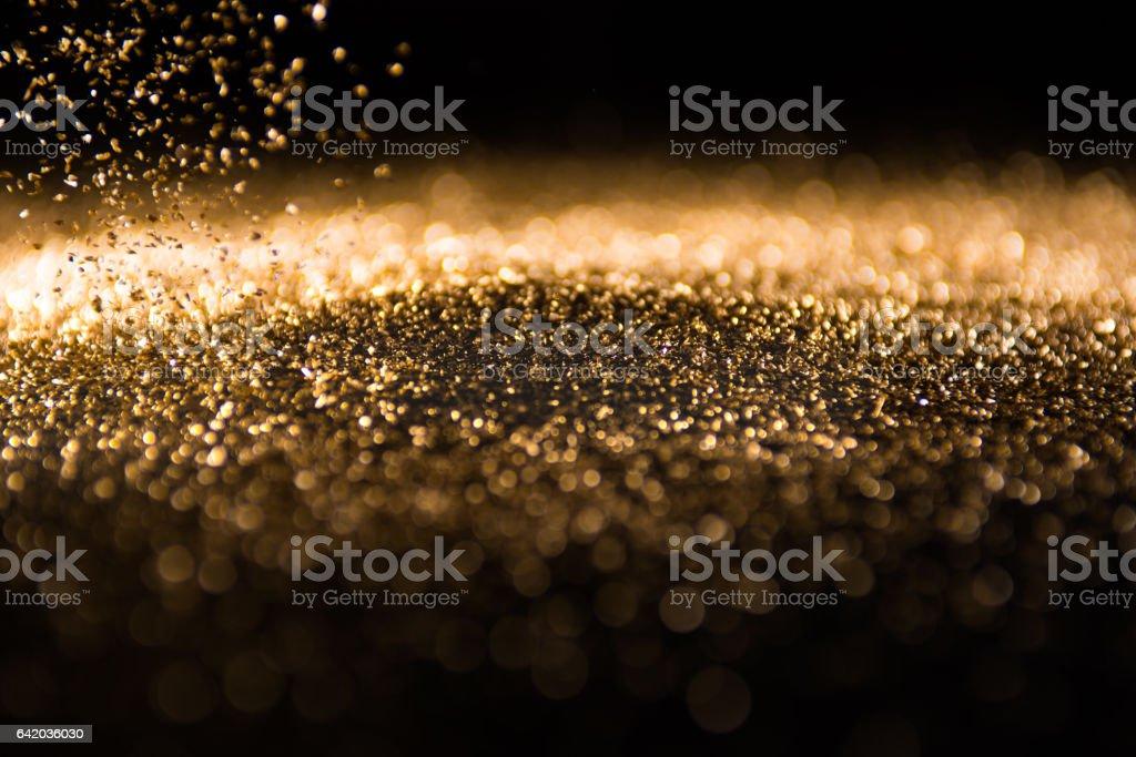 Background gold glitter stock photo