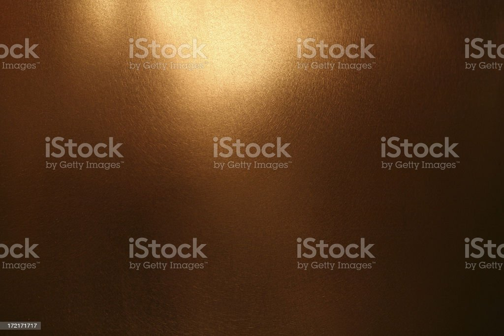 Background: gold/copper metallic surface stock photo