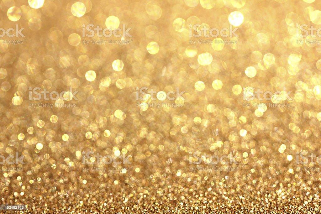 Background golden Christmas Bokeh stock photo