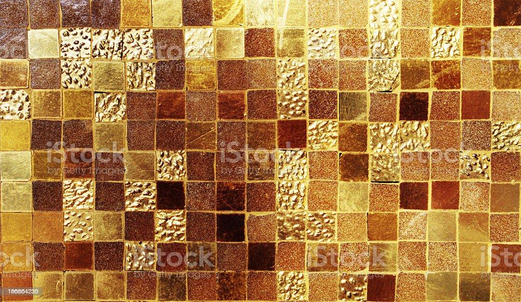 Background - Golden Mosaic royalty-free stock photo