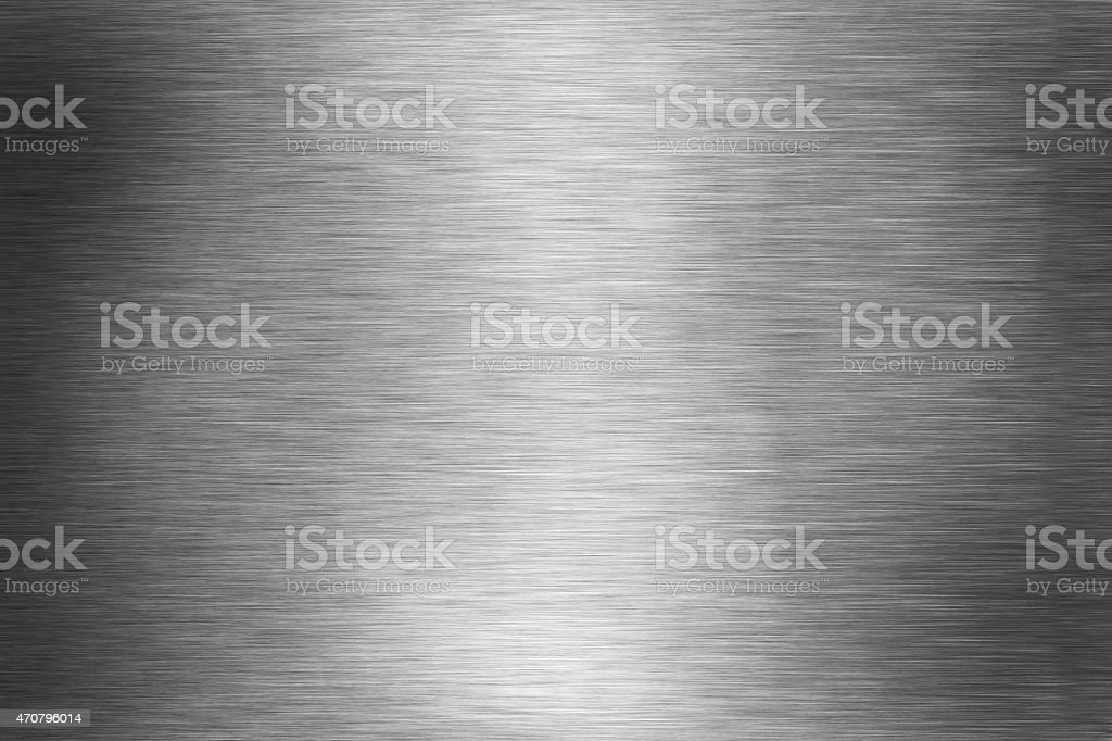 Background graphic of silver brushed aluminum stock photo
