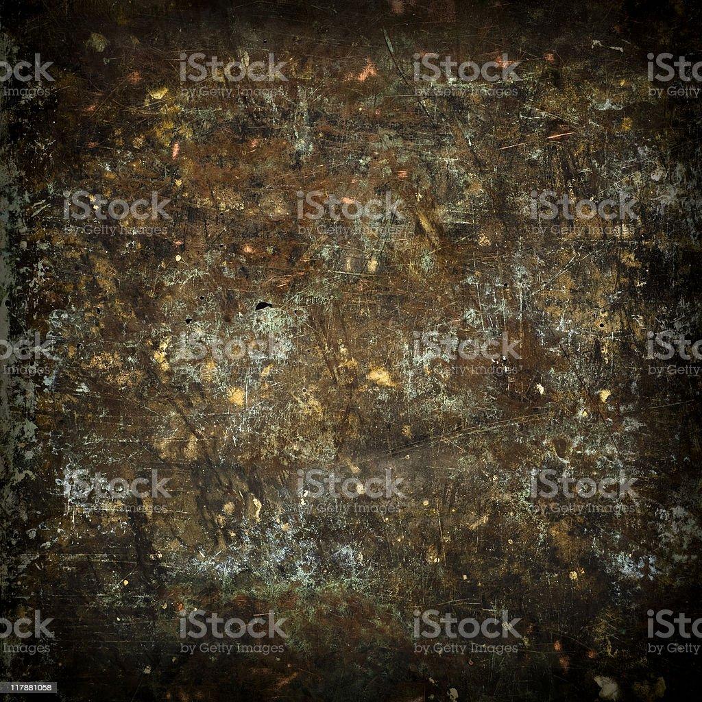 Background: grunge copper sheet stock photo