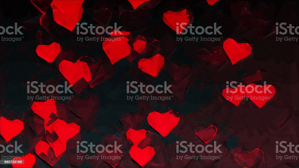 Background Hearts stock photo