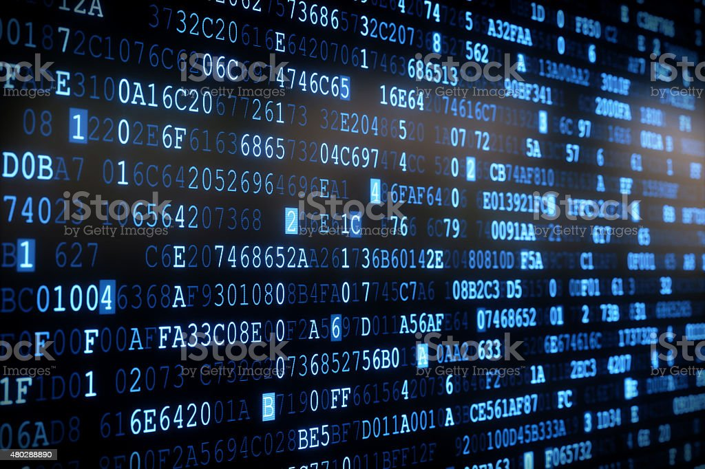 IT Background Hexadecimal Code A01 stock photo