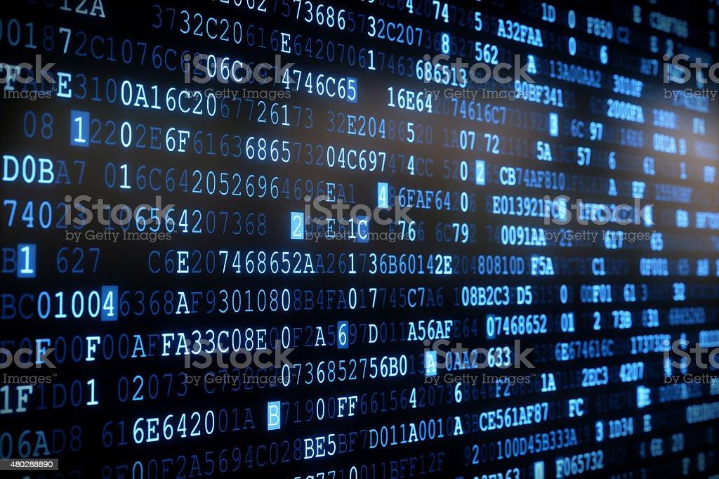IT Background Hexadecimal Code A01 stock photo