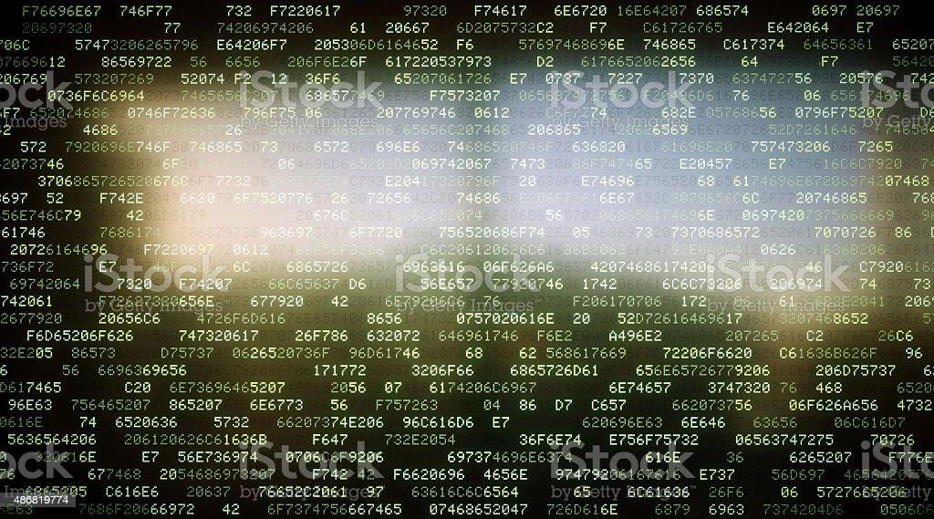 IT Background Hexadecimal Code A02 stock photo