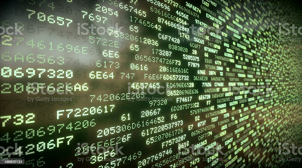 IT Background Hexadecimal Code A03 stock photo