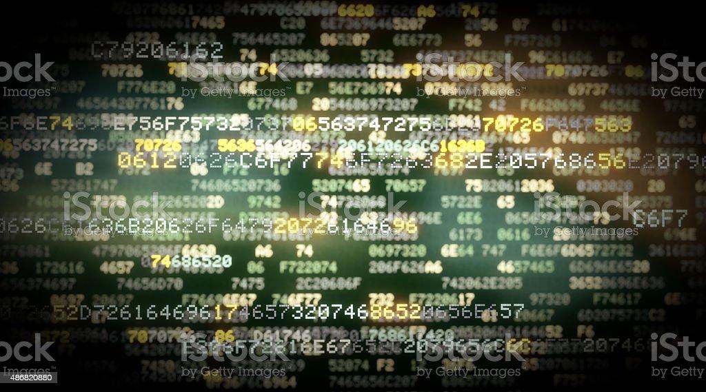IT Background Hexadecimal Code A05 stock photo