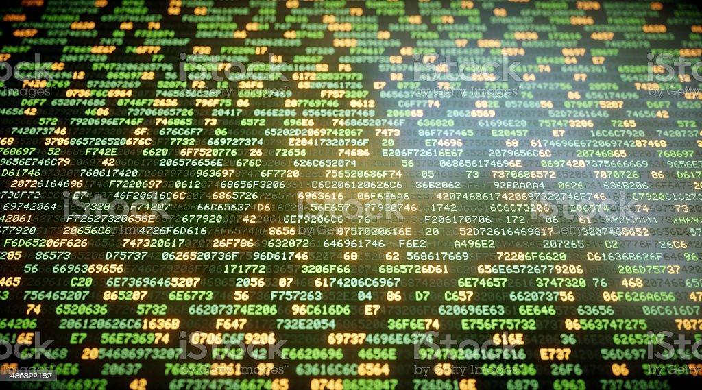 IT Background Hexadecimal Code A07 stock photo