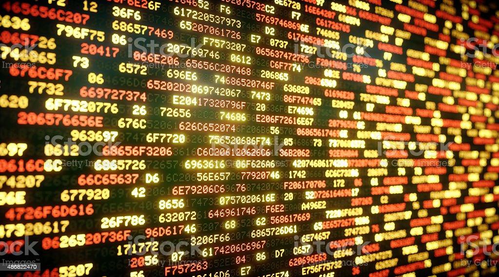 IT Background Hexadecimal Code A08 stock photo