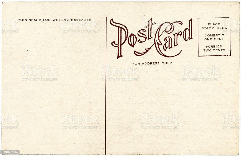 Background Image Of A Blank Beige Vintage Back Of A Postcard Stock