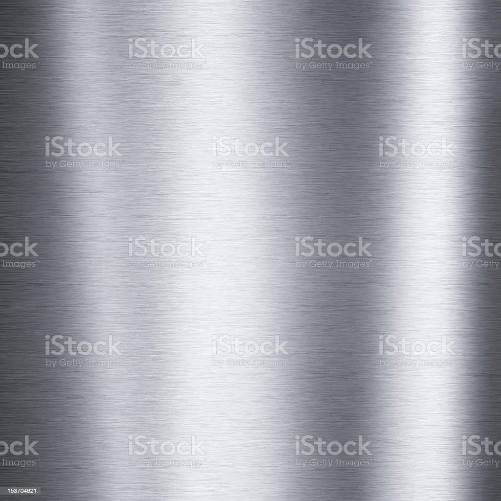 Background image of a brushed aluminum metallic plate stock photo