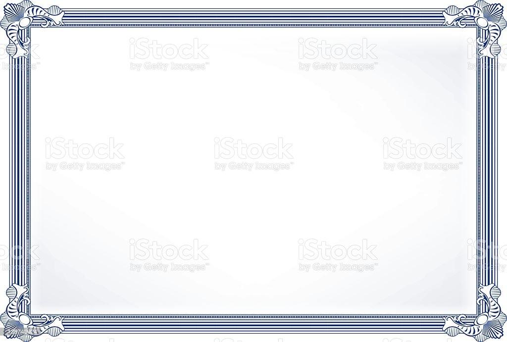 Background image with blue photo frame stock photo