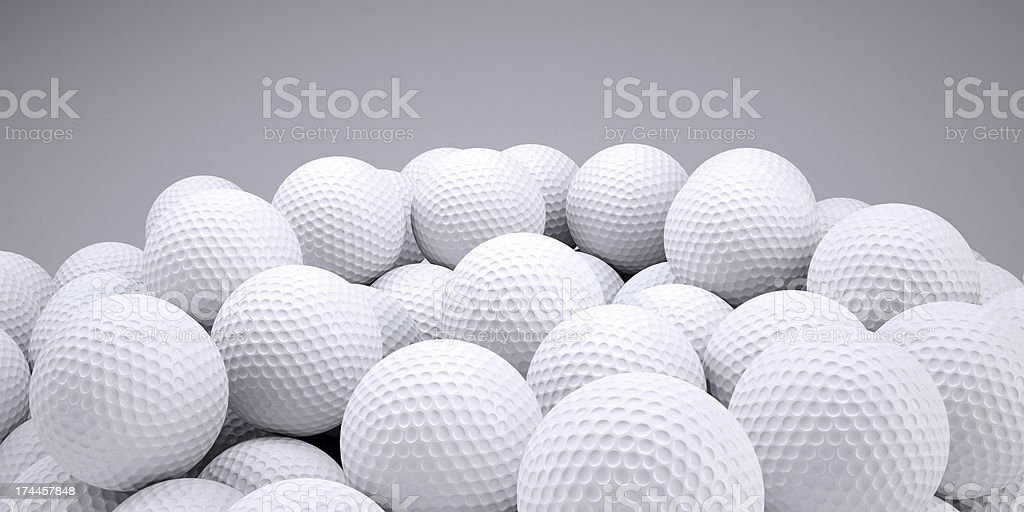 Background is out of golf balls stock photo