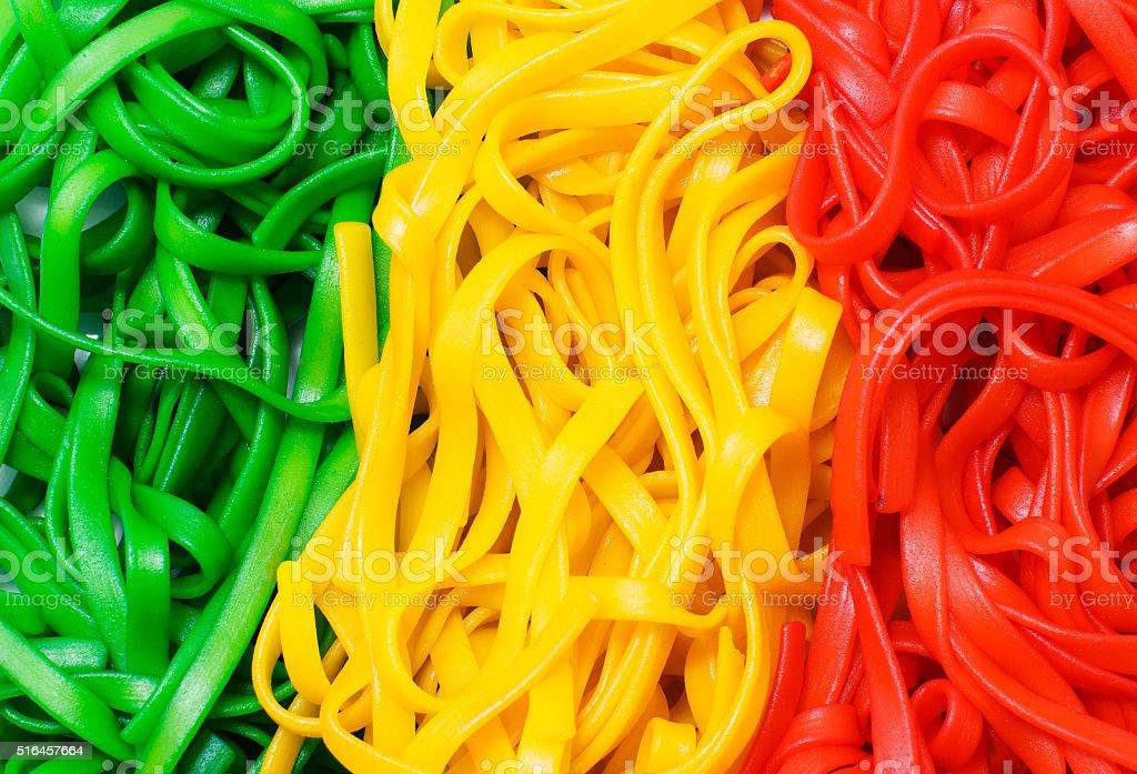 background Italian multicolored pasta stock photo