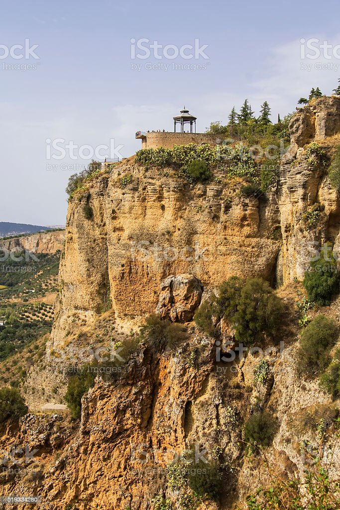 background landscape view of Ronda, Andalusia stock photo