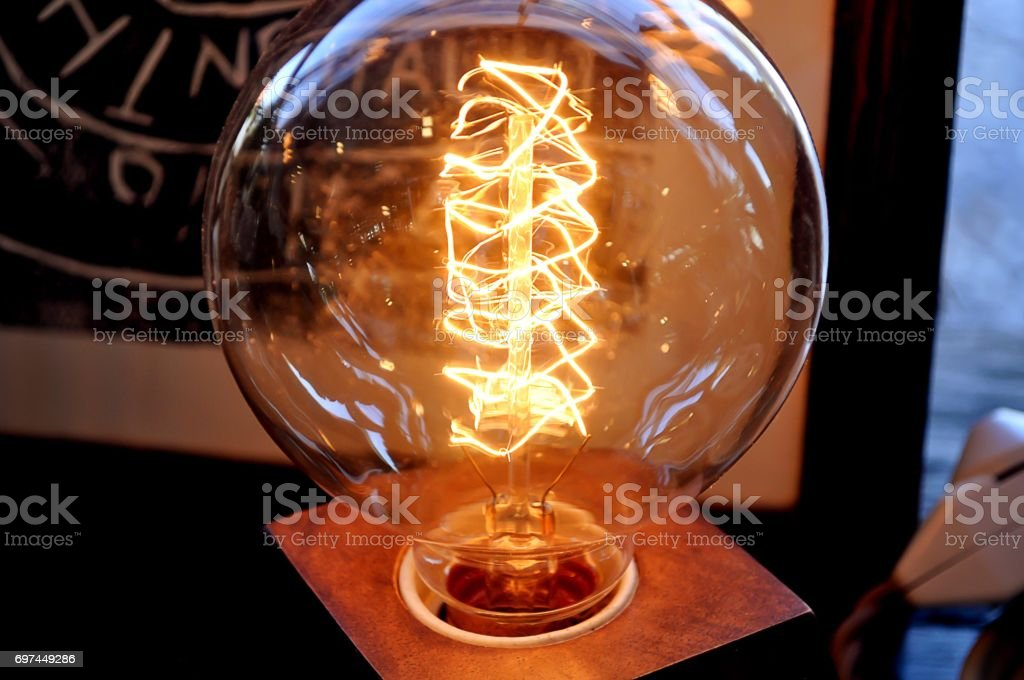 Background light from the lamp. For work to you. stock photo