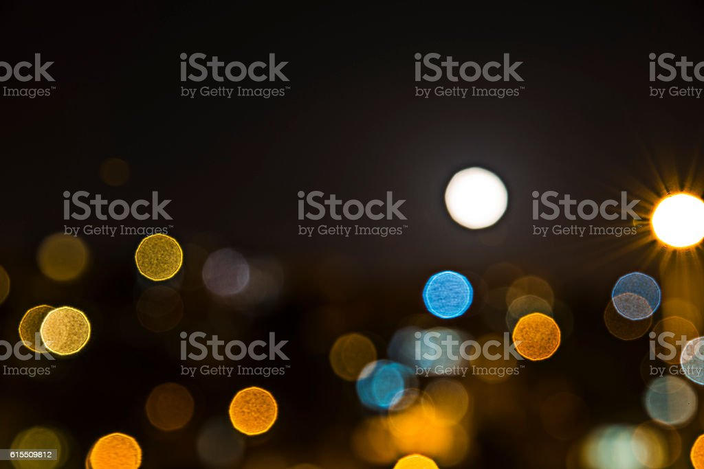 Background lights are not in the field. stock photo