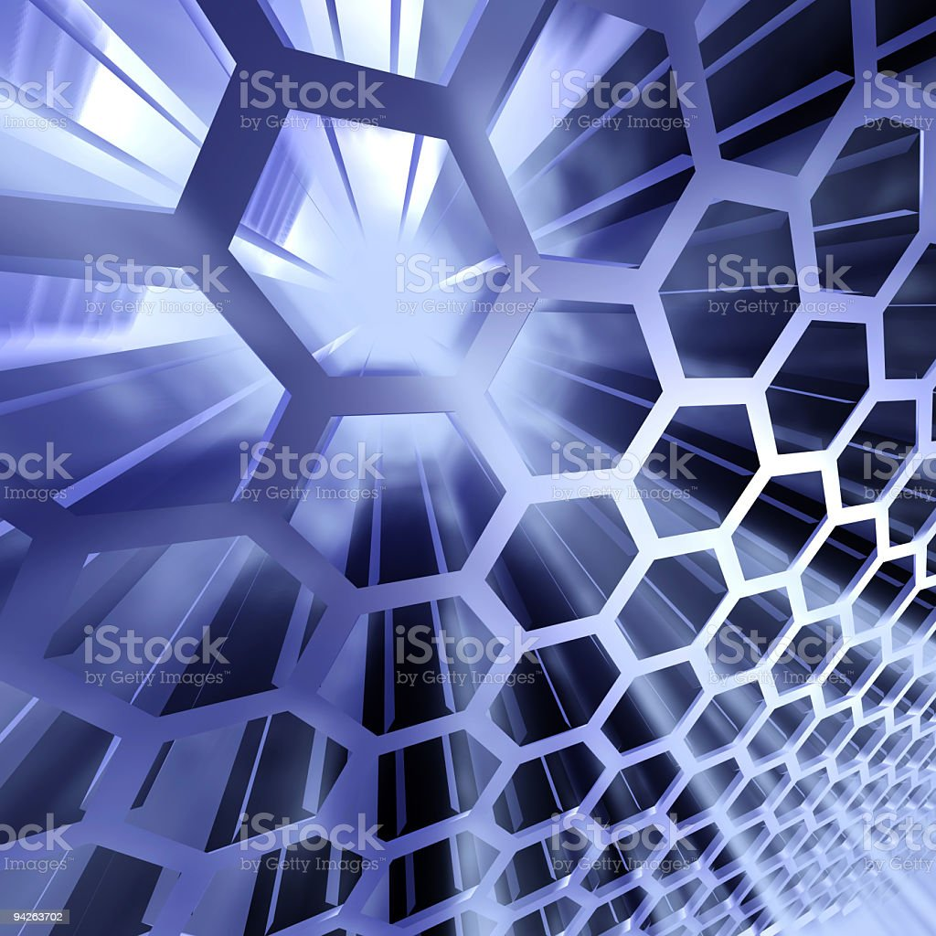 Background looking like technological honeycombs royalty-free stock photo