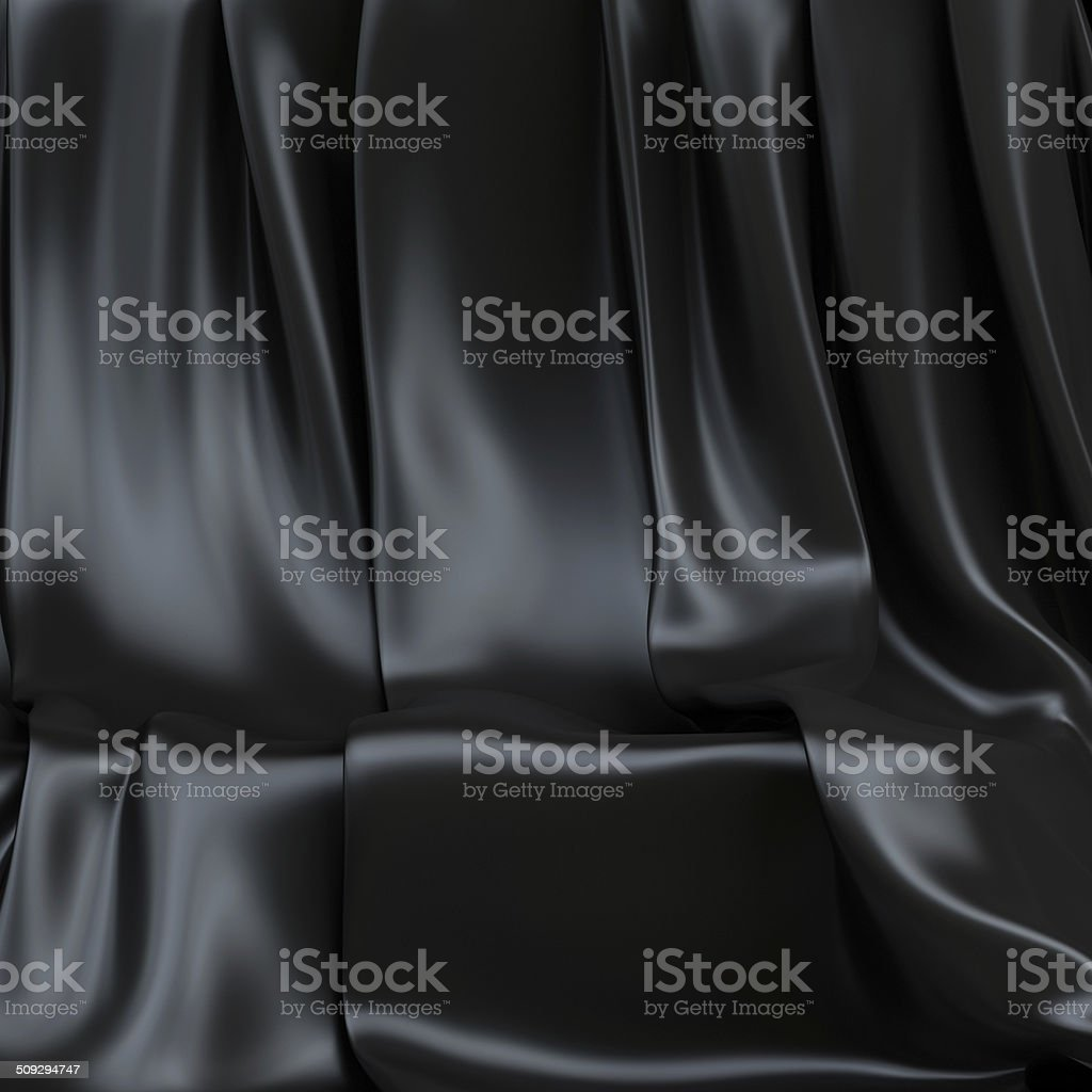 Background made of black cloth for a still-life stock photo