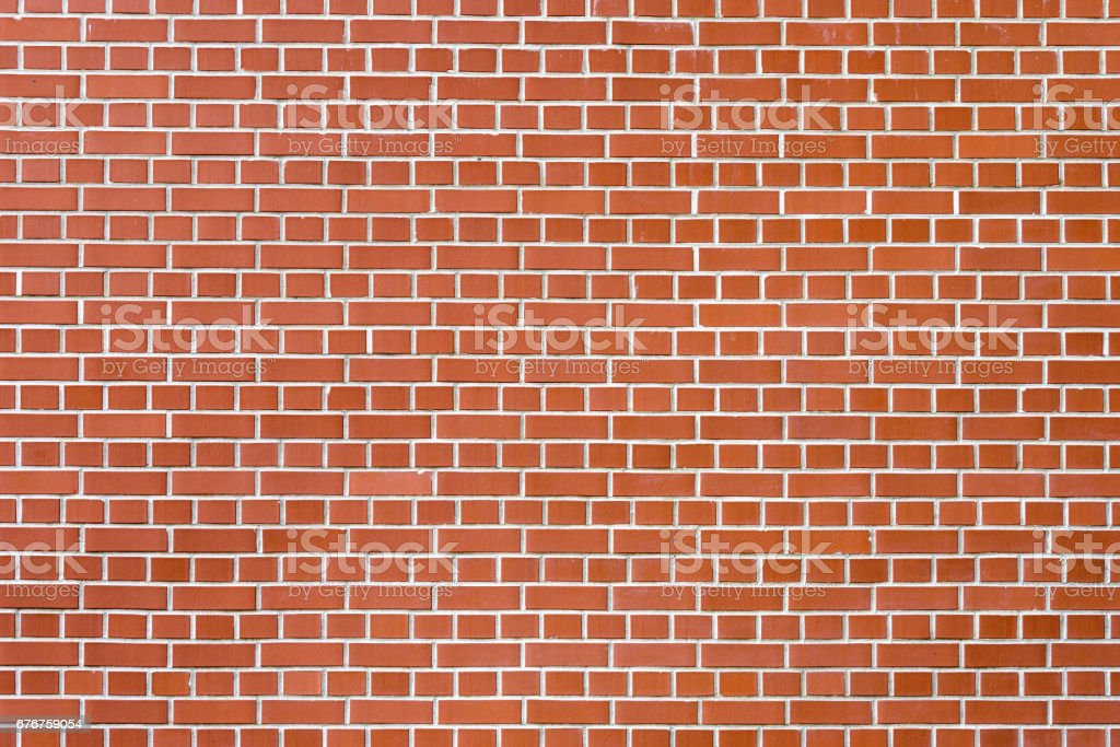 Background made of red brick wall stock photo
