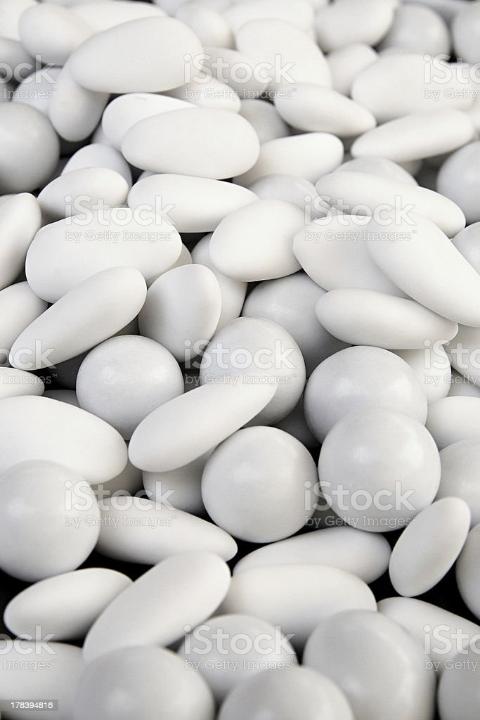 Background made of round white sugared almond royalty-free stock photo
