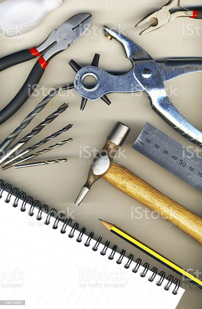 Background made of tools royalty-free stock photo