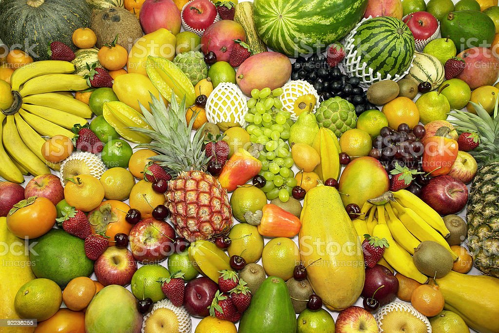 A background made up of various fruits royalty-free stock photo