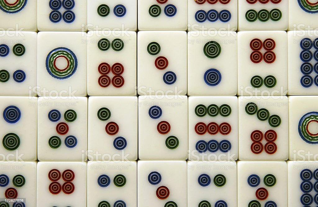 background - mahjong tiles royalty-free stock photo