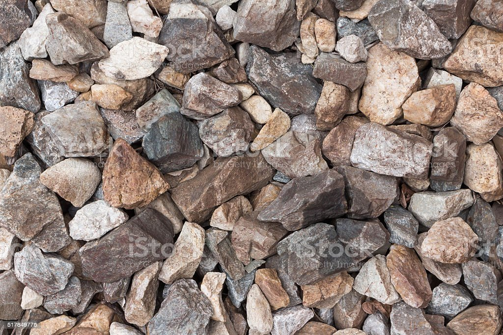 Background many stones stock photo
