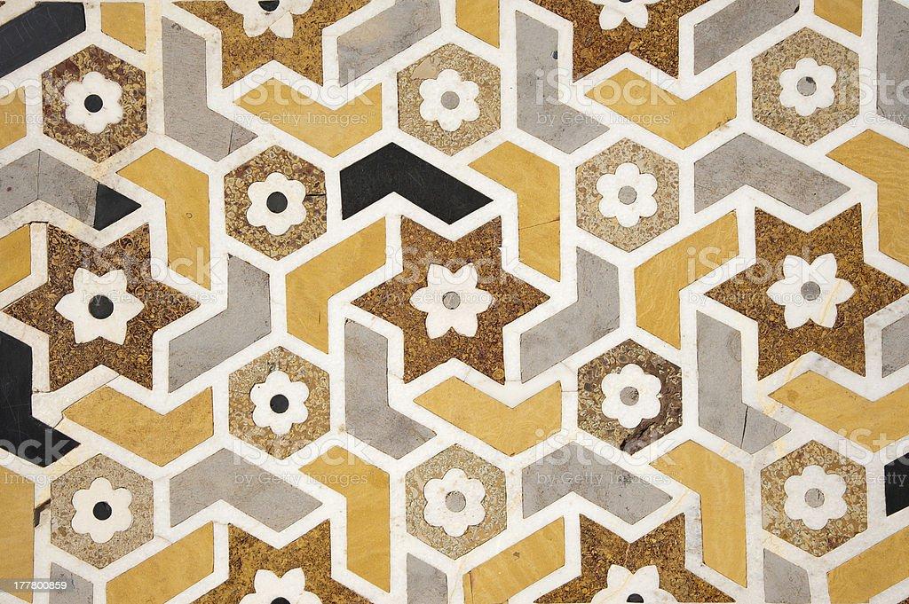 Background -  Marble Inlay Motifs of the Taj Mahal royalty-free stock photo