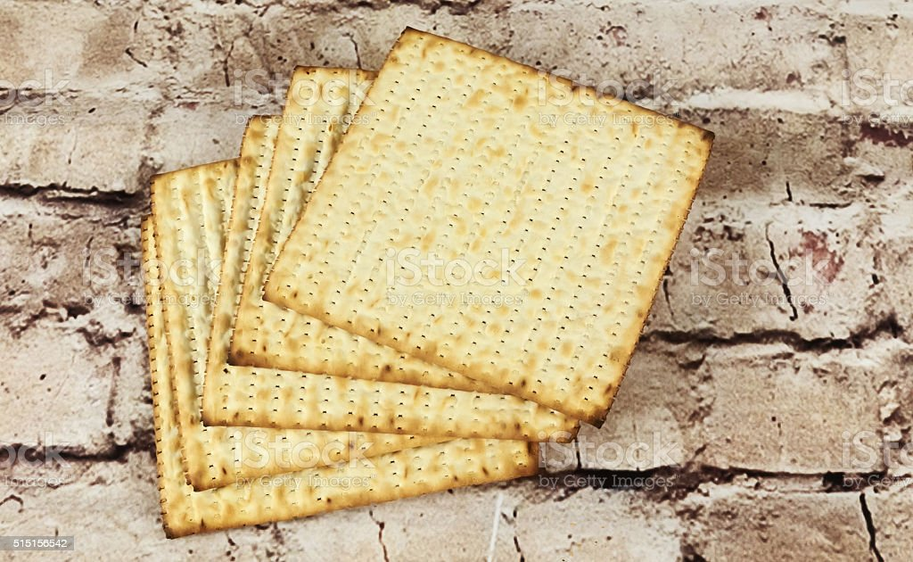 background. matzoh jewish passover bread stock photo