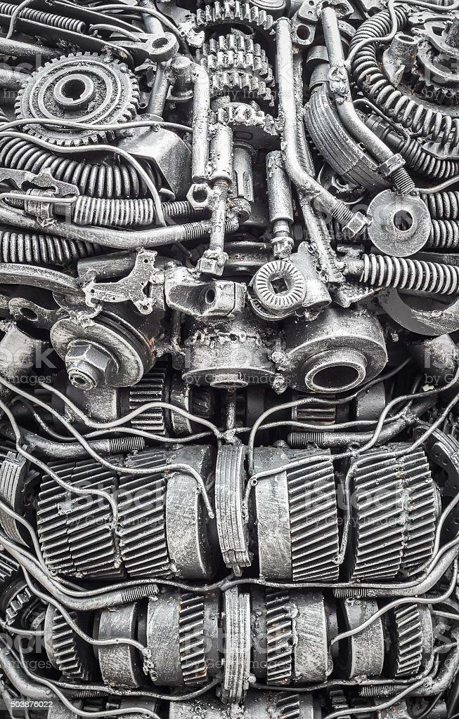 Background metal steel gear robot stock photo