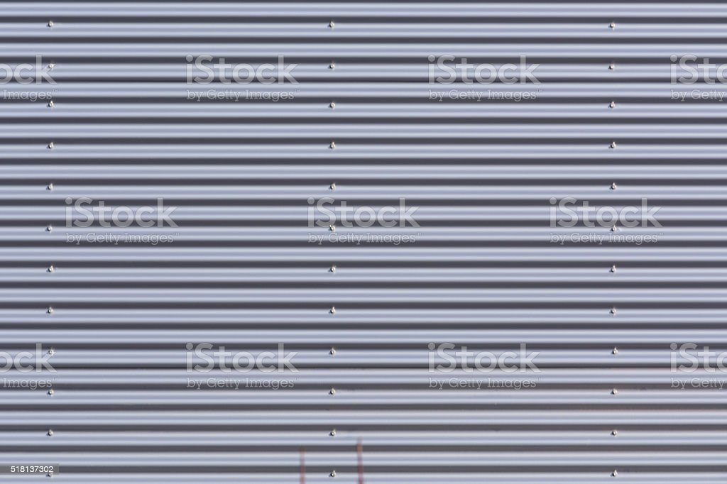 Background metal wall silver. stock photo