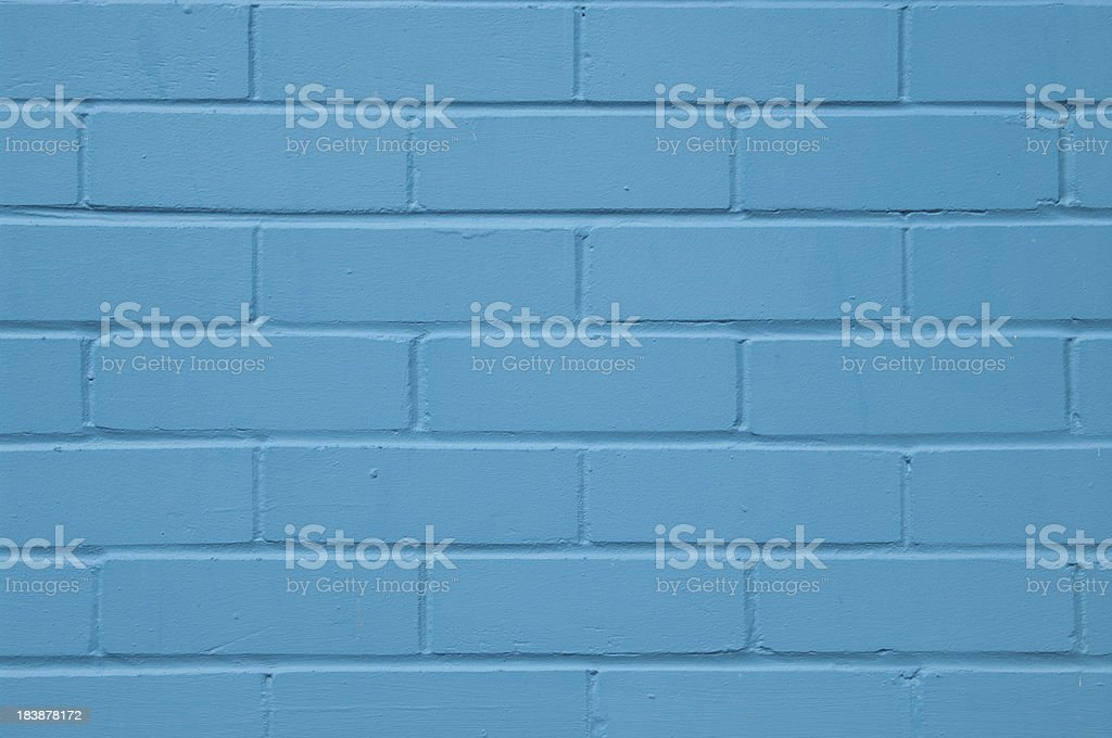 Background modern new blue brick wall with copy space stock photo