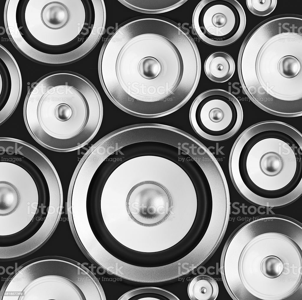 background music speakers royalty-free stock photo