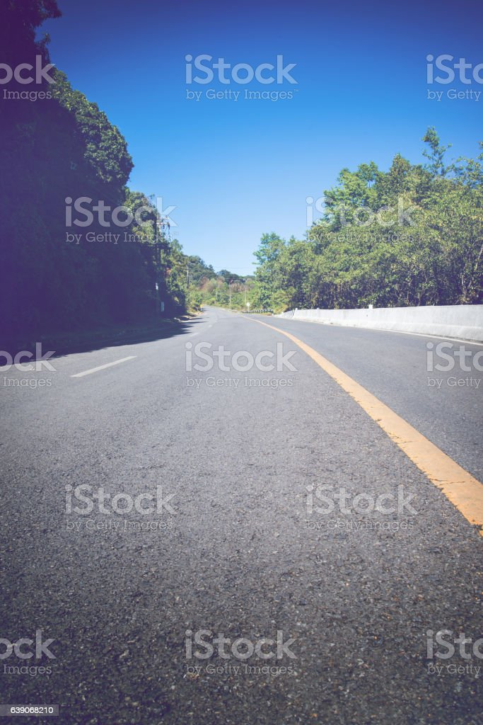Background natural landscape. Road Travel stock photo
