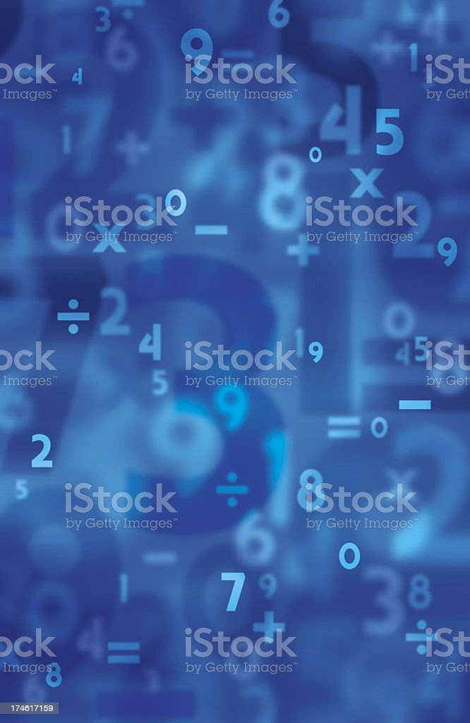Background Numbers stock photo