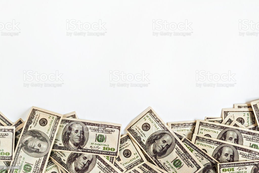 background of $ 100 with space for text stock photo
