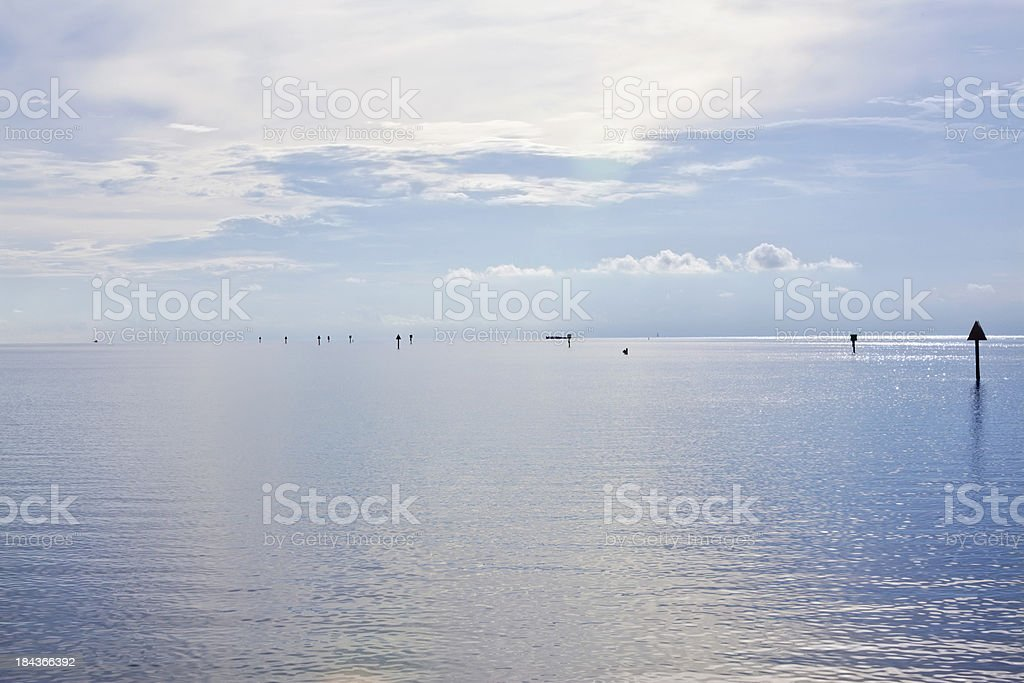 Background of a calm ocean royalty-free stock photo