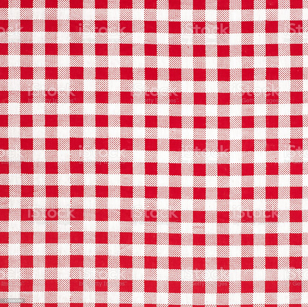 Background of a checked tablecloth royalty-free stock photo
