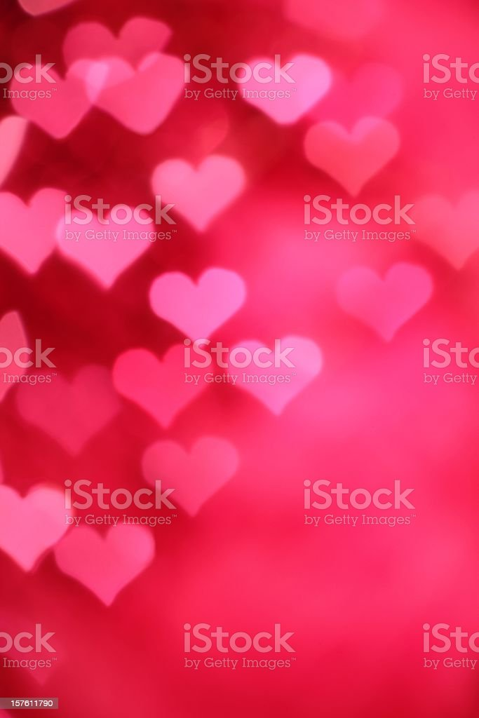 A background of a pink hearts design stock photo