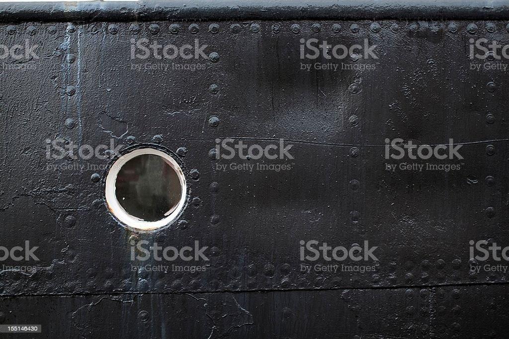 Background of a ships porthole royalty-free stock photo