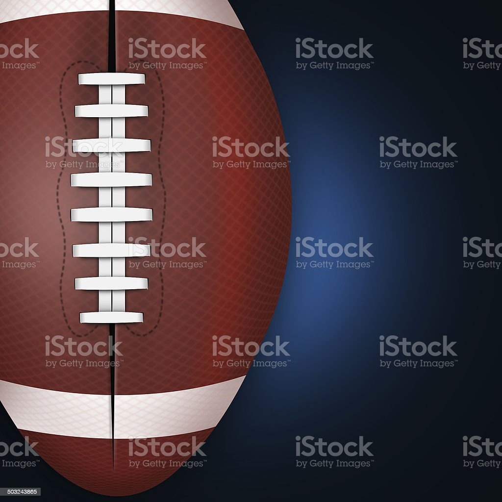 Background of american football and rugby sports stock photo
