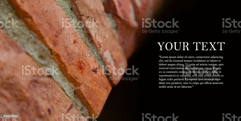 Background of brick arches walls conception. stock photo