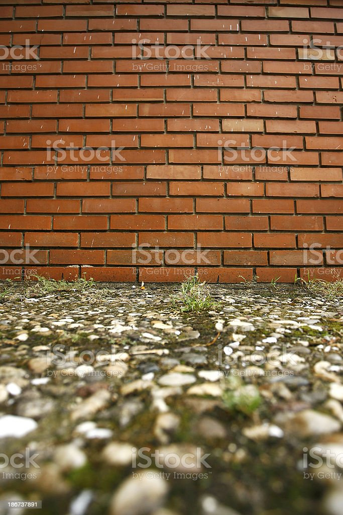 Background of brick wall texture royalty-free stock photo