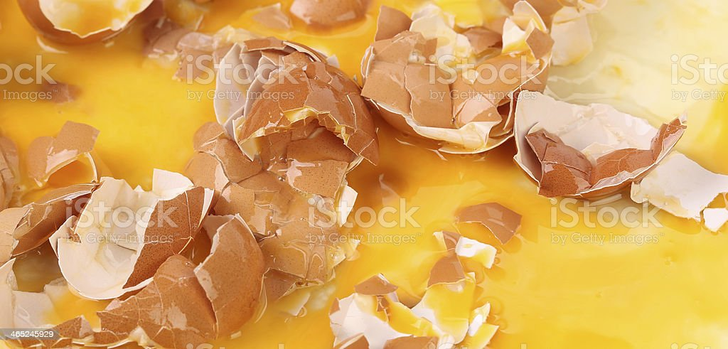 Background of broken Egg Shells. royalty-free stock photo