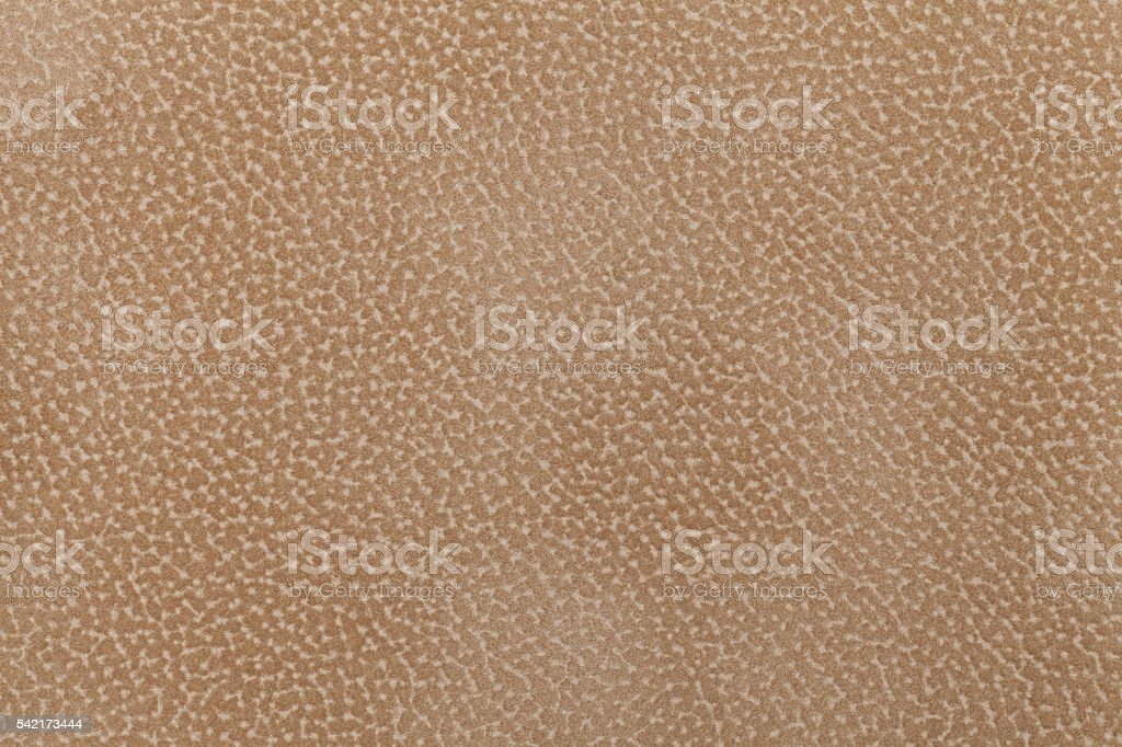 Background of brown fabric flock, decorated with coat of  animal. stock photo