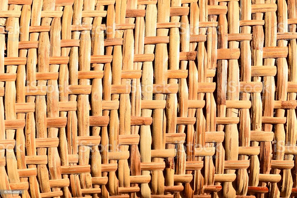 Background of brown handicraft weave texture bamboo surface stock photo