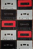background of cassette tape